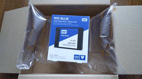 ノジ活で購入したSSD(500GB)