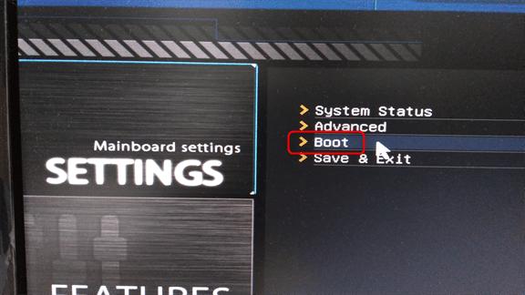 SSDから起動するようにBIOSを設定する